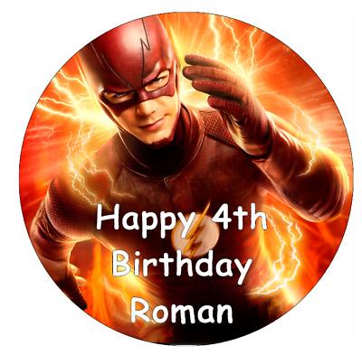 The Flash DC Superheros Personalised Birthday Cake Topper ...