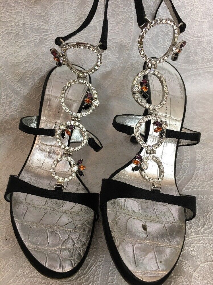 Giuseppe  Zanotti shoes Rings Of Crystals Wrap Around Ankle Strap Size 39
