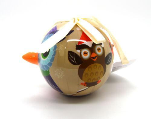 Owl Christmas ball ornament LED light holiday Christmas tree XMAS