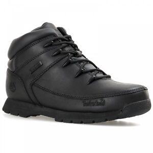 Timberland-JUVENTUD-Euro-Sprint-Zapatos-de-piel-negros-Botas