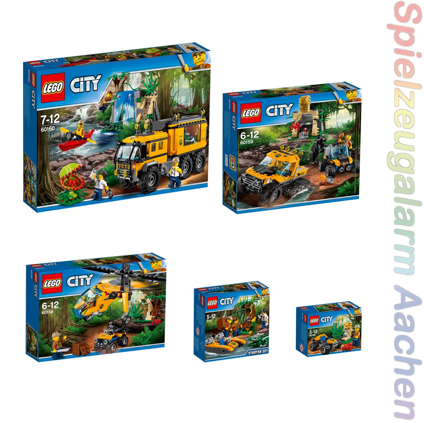LEGO 5 Box Set City  Jungle 60156+60157+60158+60159+60160 n7 17  envoi gratuit dans le monde entier