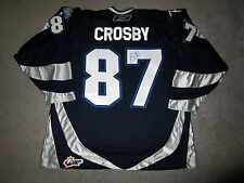 SIDNEY CROSBY Rimouski Oceanic SIGNED Autographed THIRD Jersey w/ COA Penguins