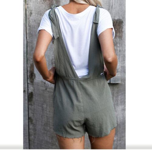 Summer Bib Pants Shorts Playsuit Party Jumpsuit Romper Trousers OverallsYR