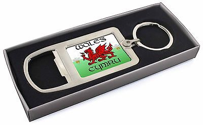 Dolce Galles Cymru Gallese Regalo Apribottiglie In Metallo Cromato Portachiavi In Box Gif, Galles - 1mbo-