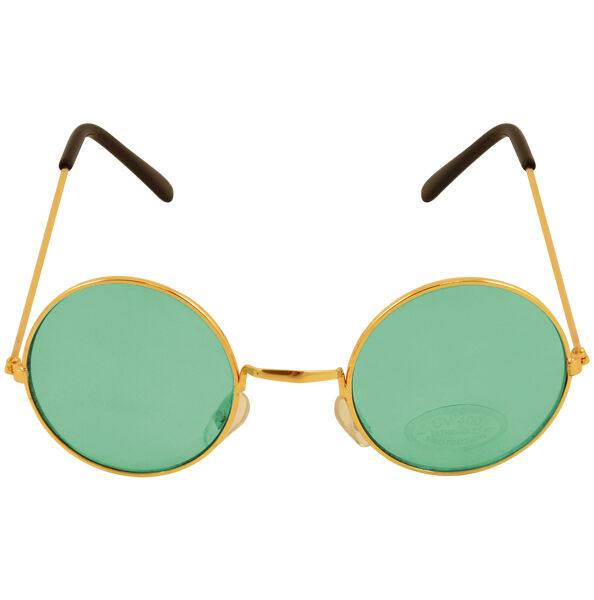 7f5b8997f92 1970s Round Lennon Sunglasses Hippie Pop Glasses 1960s Hippy Fancy Dress  Green for sale online