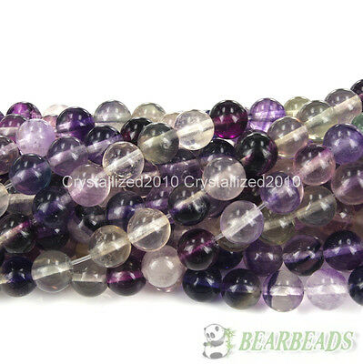 Natural Purple Fluorite Gemstone Round Beads 4mm 6mm 8mm 10mm 12mm 14mm 16''