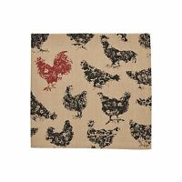 Hen Pecked Hens Dinner Napkin Set Of 4 Farmhouse Chic Table Mat