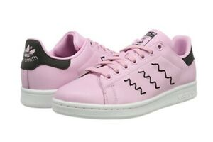 Dettagli su ADIDAS STAN SMITH DONNA, BZ0656, ROSANERO, PELLE, STRINGATA