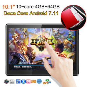 "10.1"" Tablet PC 4+64G Android 7.0 Octa-Core Dual SIM &Camera Phone Phablet"