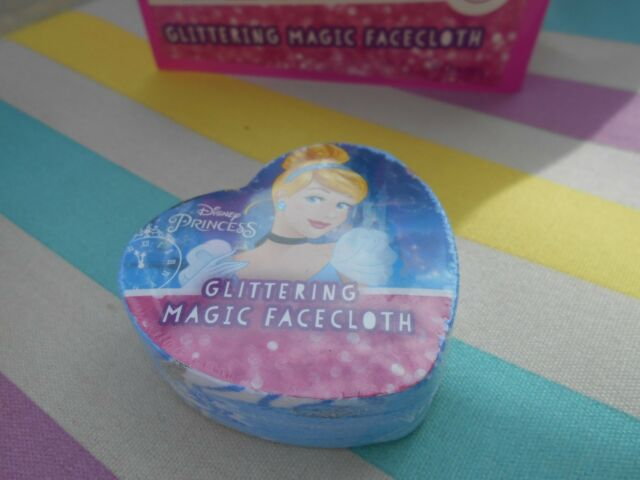 Glittery Disney Princess Cinderella Magic Expandable Flannel Face Cloth Gift