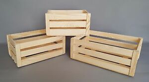 Image Is Loading Wooden Crate Boxes Many Sizes Storage Apple Fruit