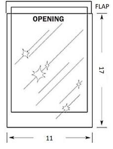 11 x 17 inch MYLAR Sleeve(s) 2mil 1 inch flap
