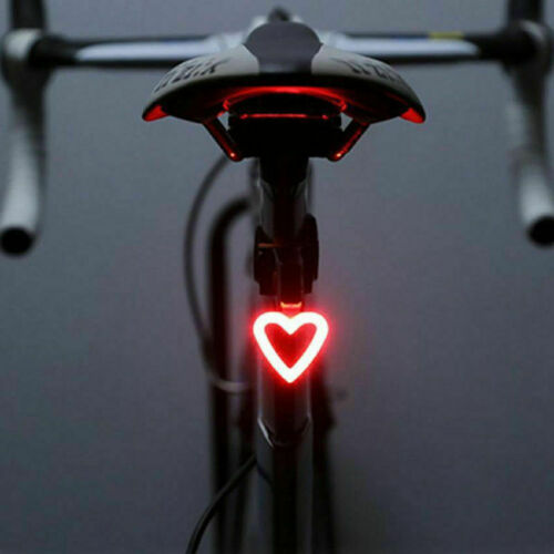USB Rechargeable Bike Rear LED Tail Light Safety Warning Light Laser Night Lamps