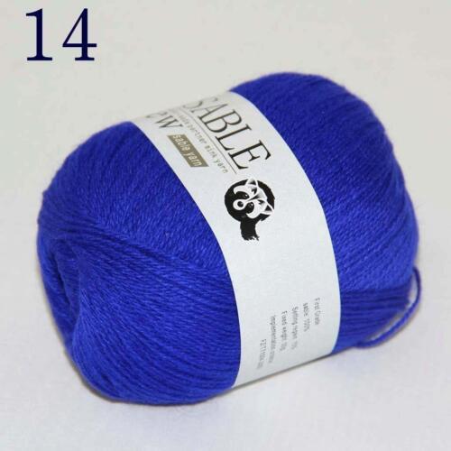 AIP Super Soft Pure Sable Cashmere Wrap Shawls Hand Knit Wool Crochet 50grx6 14