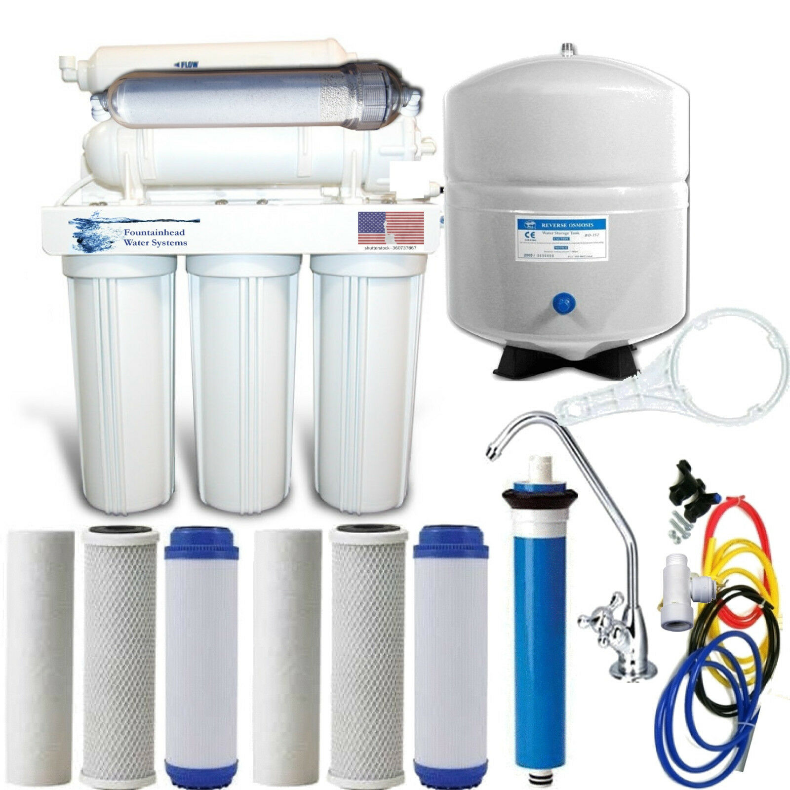 ALKALINE REMINERALIZER REVERSE OSMOSIS SYSTEM 100G EX. FILTERS CHOICE OF FAUCET
