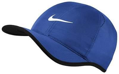 c309bf211 NEW NIKE Dri-Fit Feather Light Hat Cap Royal 679421-480 ADJUSTABLE Run  Tennis   eBay
