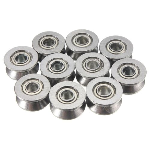 10PCS BALL BEARING 624VV V SLOT SEALED 4 X 13 X 6mm Silver L5L8