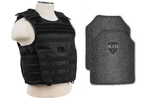 Body Armor   Bullet Proof Vest   AR500 Steel Plates   Base Frag Coat EXP BLK XXL
