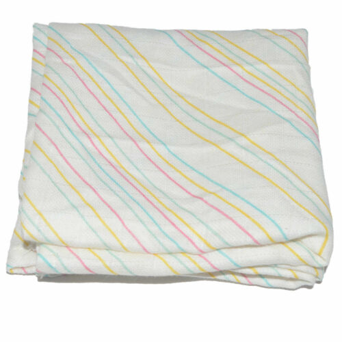 1x mousseline carré 100/% coton multicolore à rayures 70 X 70 cm