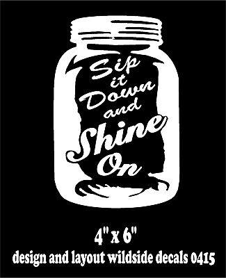 got moonshine Drink Alcohol FUNNY DECAL STICKER CAR VINYL WALL