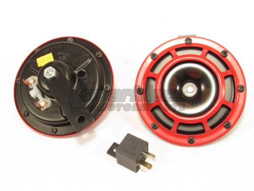 Hella Super Tone Horn Set B133 Perrin Bracket for 08-14 Subaru Impreza WRX//STI