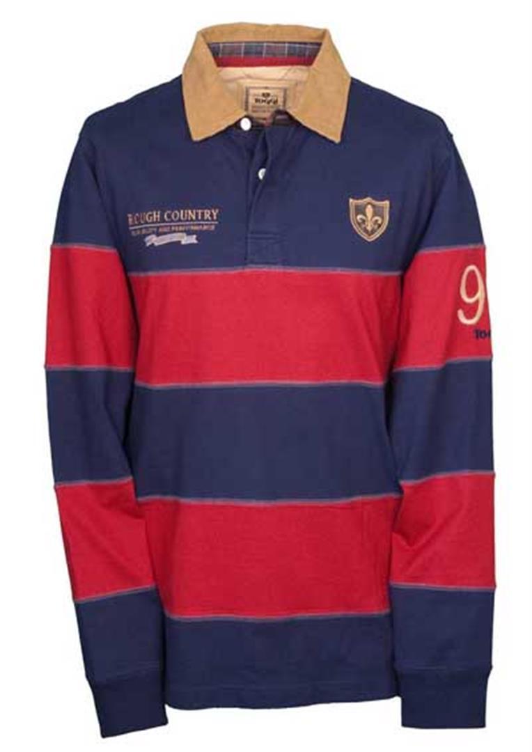 Toggi Anderson Shirt  Herren Cotton Rugby Shirt Anderson Größes S - XXL  Mocha or Navy/Mulled Wine 23644d