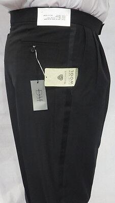 New Black Wool Discount Tuxedo Pants Trousers Slacks Server Prom Choose Size