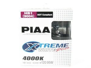 PIAA 9004/HB1 Xtreme White Plus Halogen Headlight Bulbs Twin Pack 4000K