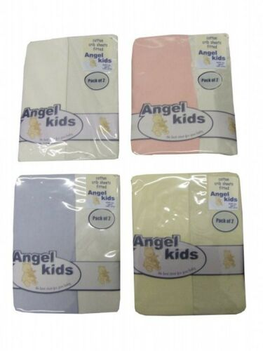 FITTED CRIB FITTED SHEETS 100/% COTTON PACK OF 2 BABY NURSERY BEDDING