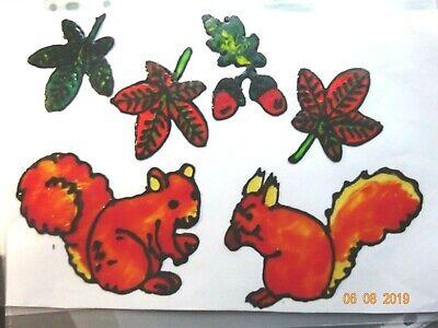 Gabis Window Color Bilder Fensterbilder Deko Herbst kleine Herbstblume  Lampion