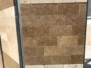 Piastrelle mosaico in pietra travertino per rivestimenti interni