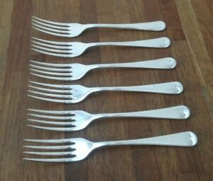 VINTAGE-CUTLERY-SET-OF-6-FORKS-BEACON-E-P-N-S-SILVER-PLATED-SIZE-6-6-034