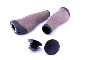 Contec-Tour-Pro-liege-Fahrrad-Lenkergriffe-noir-marron-135-135mm-M-gel-mischung