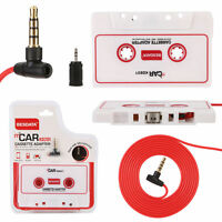 Car Cassette Adapter MP3 CD Tape Player for iPhone iPod Radio AUX + Microphone