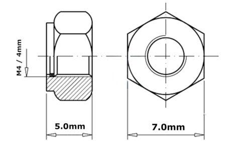 Nyloc Tuercas De Bloqueo De Nylon Nylock M3 M4 M5 M6 M8 M10 M12 Tipo P DIN 985