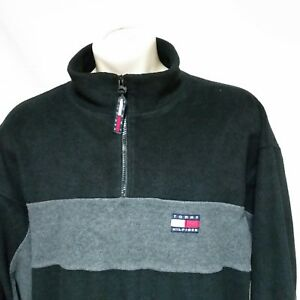 77ebc51a Image is loading VTG-Tommy-Hilfiger-Fleece-Pullover-Jacket-Flag-90s-
