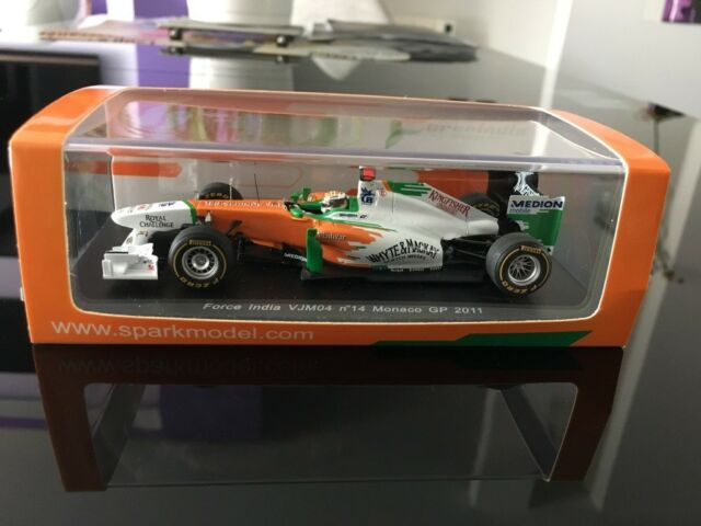 Spark 1/43 Force India VJM04 N°14 Monaco GP 2011 Adrian Sutil
