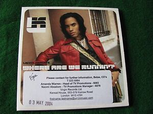 LENNY-KRAVITZ-Where-Are-We-Runnin-039-2-Track-CD-Promo-Single