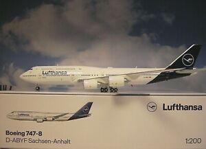 Herpa Wings 1:200 Boeing 747-8 Lufthansa D-aiyf Saxe-Anhalt 559188