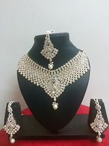 Indian-Bollywood-Style-Rose-Gold-Plated-Fashion-Ethnic-Jewelry-Necklace-Set