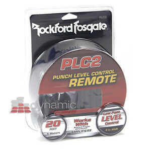Rockford Fosgate Plc2 Amplifier Subwoofer Punch Remote