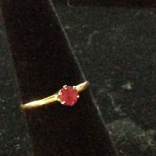 VINTAGE 14K RUBY SOLITAIRE RING SIZE 6