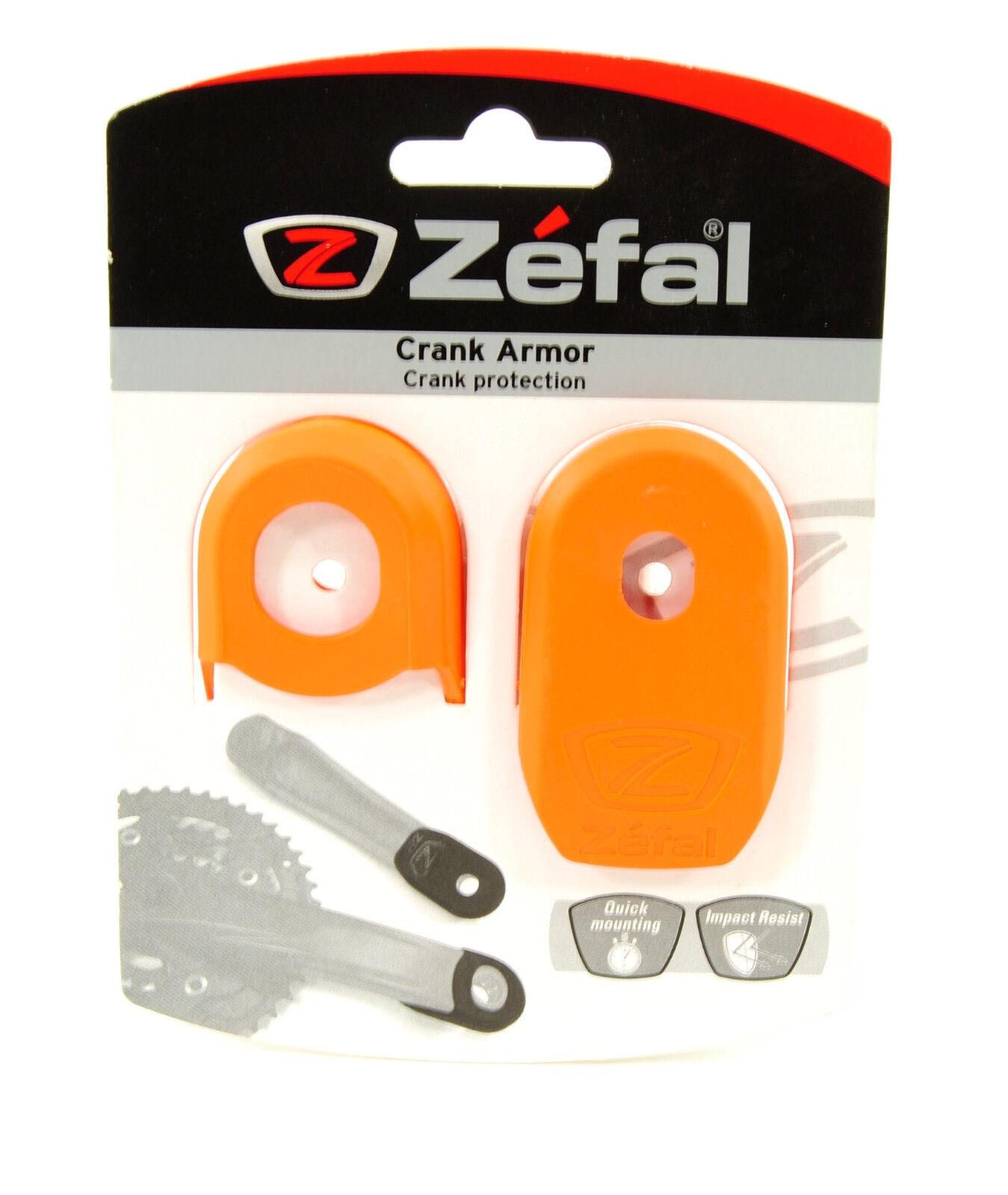 Zefal crank armor yellow protection pair crank mtb pedalier velo vtc tip