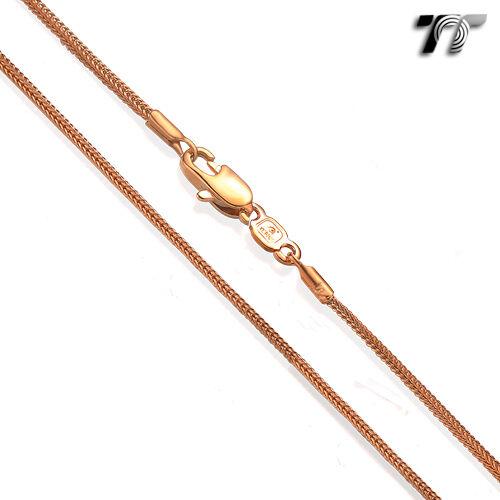 TT 1.2mm 9K Rose Gold Filled Square Snake Chain Necklace(CF138)