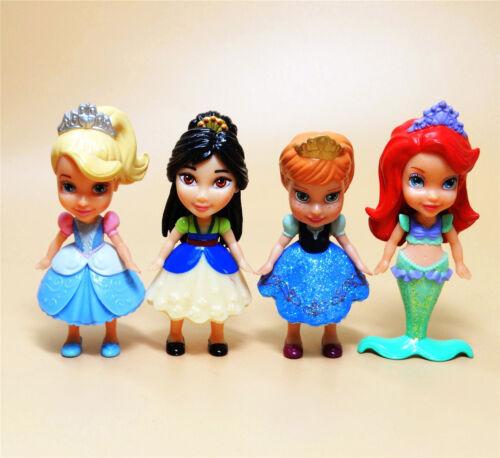 "lot of 4 Disney  princess action FIGURE 3/"" DD6"