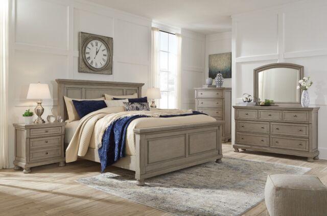 Ashley Furniture Lettner Queen Panel 6 Piece Bedroom Set For Sale