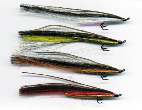 Salmon Flies Sunray Shadow x 4 tied on to size 8 /& 10 double hooks code 645