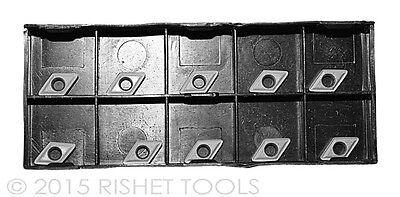 10 PCS RISHET TOOLS TNMA 43NV C5 Uncoated Carbide Inserts
