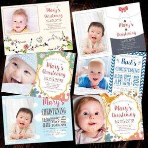 Personalised-Photo-Christening-Invitations-High-Quality-Boys-Girl-Baptism