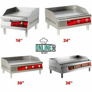 Electric-Commercial-Countertop-Steel-Flat-Top-Griddles-Grill-Thermostatic-Steel